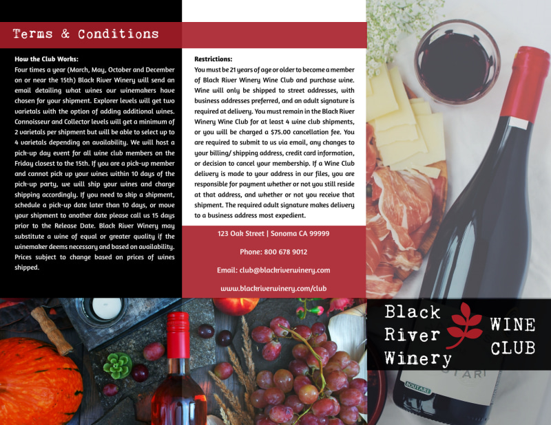 Winery Detail Tri-Fold Brochure Template Preview 2