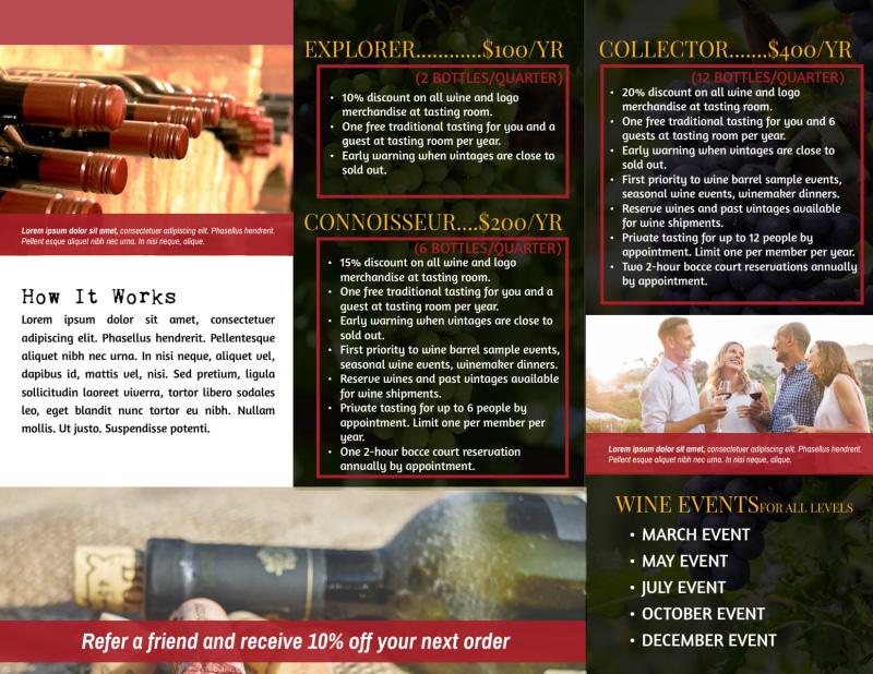 Winery Detail Tri-Fold Brochure Template Preview 3