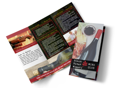 Winery Detail Tri-Fold Brochure Template preview