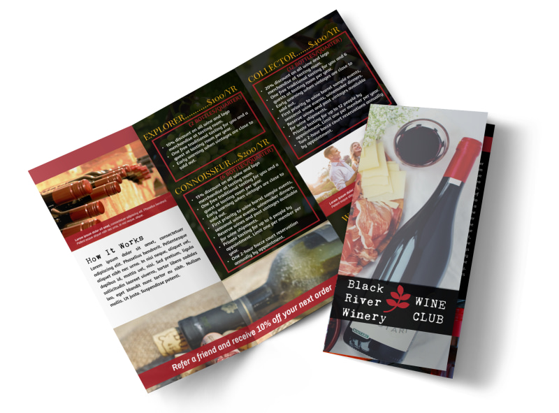 Winery Detail Tri-Fold Brochure Template Preview 4