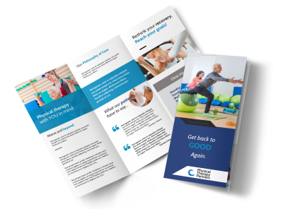 Physical Therapy Pro Tri-Fold Brochure Template preview