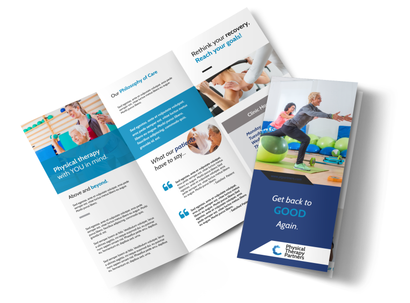 Physical Therapy Pro Tri-Fold Brochure Template Preview 1