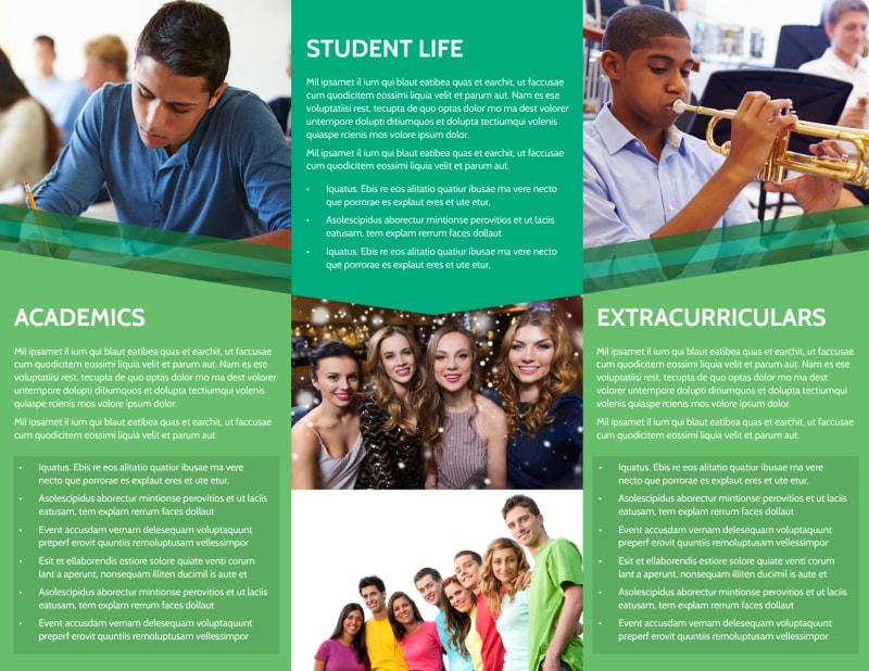 Private School Tri-Fold Brochure Template Preview 3