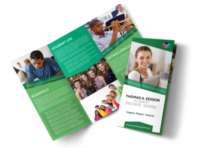 Private School Tri-Fold Brochure Template preview