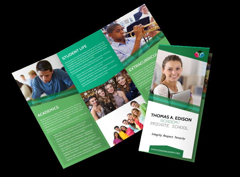Private School Tri-Fold Brochure Template Preview 1