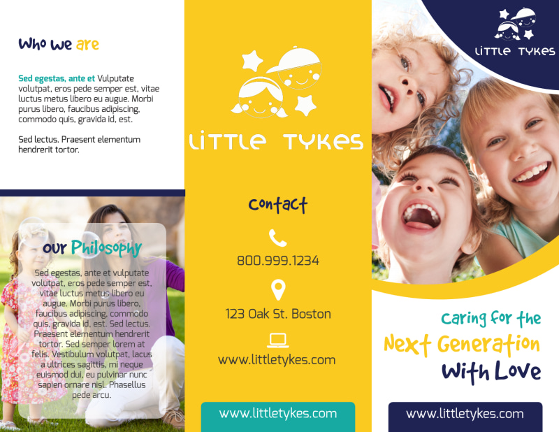 Daycare Next Generation Tri-Fold Brochure Template Preview 2