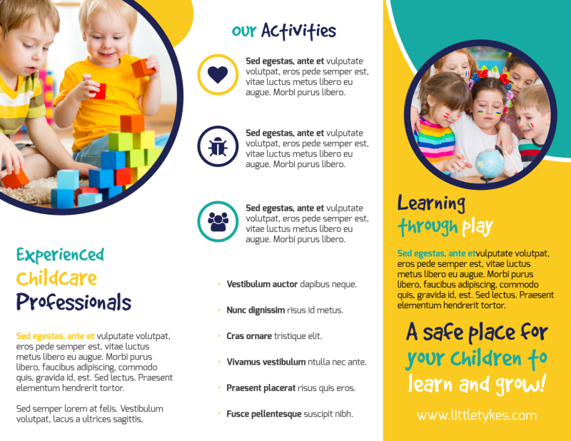 Daycare Next Generation Tri-Fold Brochure Template Preview 3
