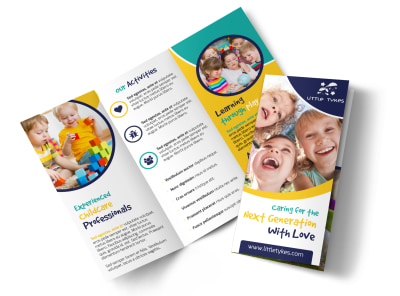 Daycare Next Generation Tri-Fold Brochure Template preview