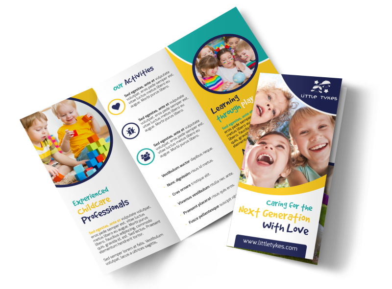 Daycare Next Generation Tri-Fold Brochure Template Preview 1