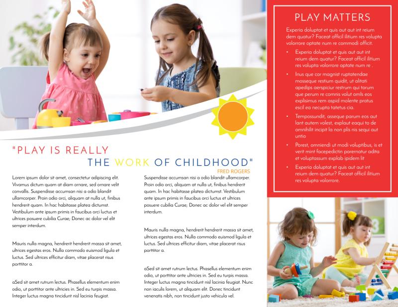 Bright Daycare Tri-Fold Brochure Template Preview 3