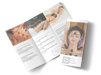 Angel Touch Massage Spa Tri-Fold Brochure Template preview