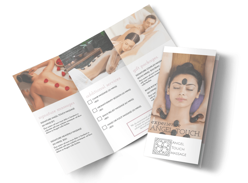 Angel Touch Massage Spa Tri-Fold Brochure Template Preview 1