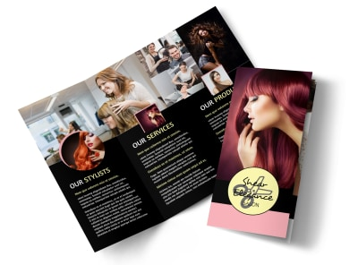 Hair Salon Style Tri-Fold Brochure Template preview