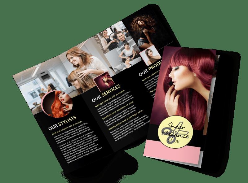Hair Salon Style Tri-Fold Brochure Template Preview 1