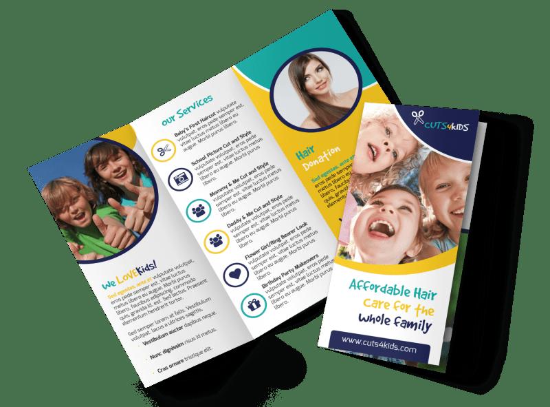 Family Hair Salon Tri-Fold Brochure Template Preview 1