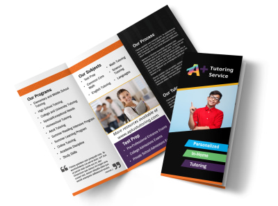 In-Home Tutoring Tri-Fold Brochure Template preview
