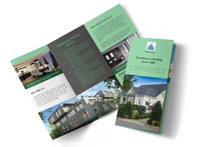 Roofing Experts Tri-Fold Brochure Template preview