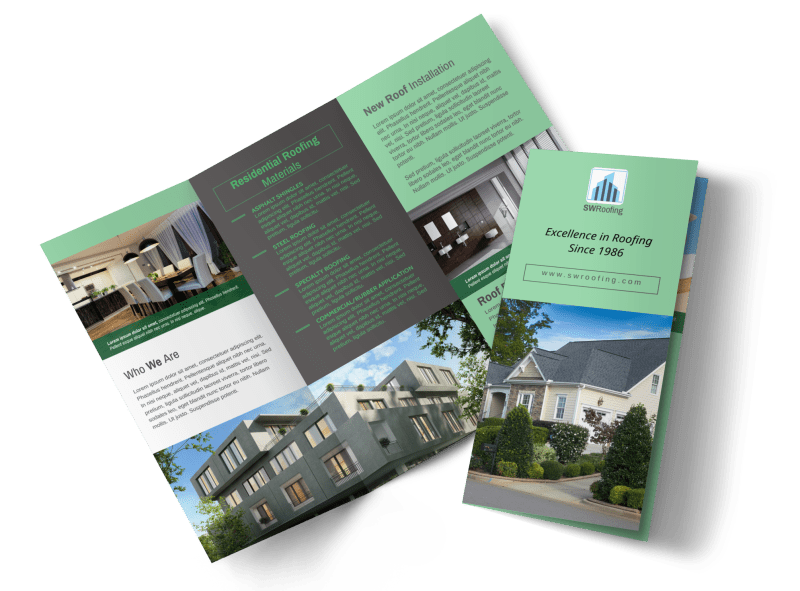 Roofing Experts Tri-Fold Brochure Template Preview 1