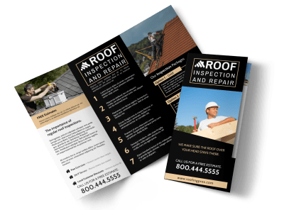 Construction Brochures Template Preview