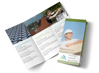 Higher Power Roofing Tri-Fold Brochure Template preview