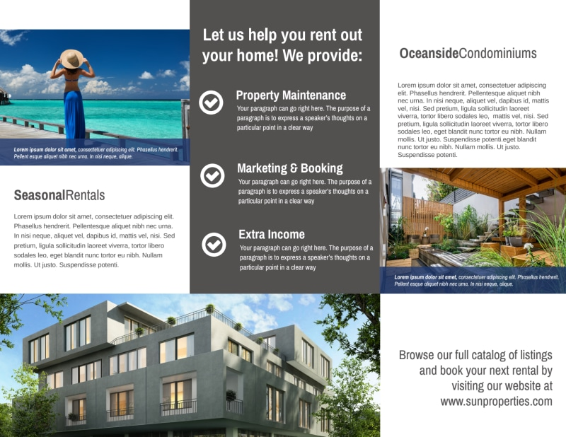 Sun Property Management Tri-Fold Brochure Template Preview 3