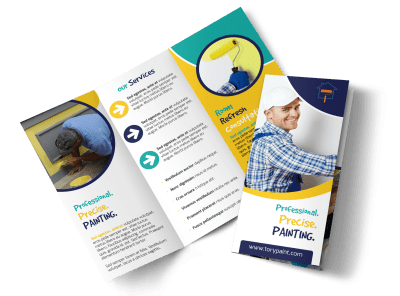 Painting Brochures Template Preview