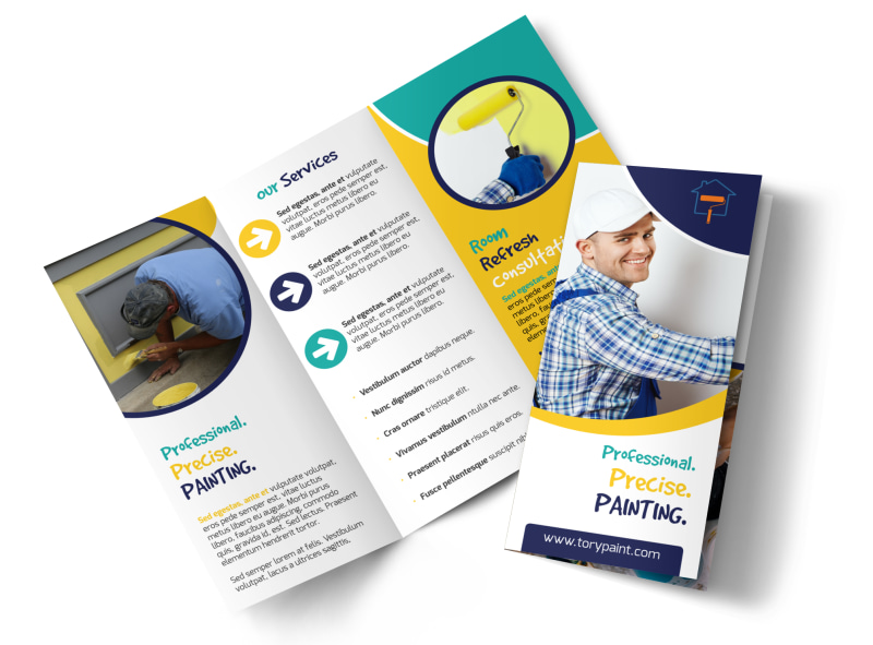 Precise Painting Tri-Fold Brochure Template Preview 4