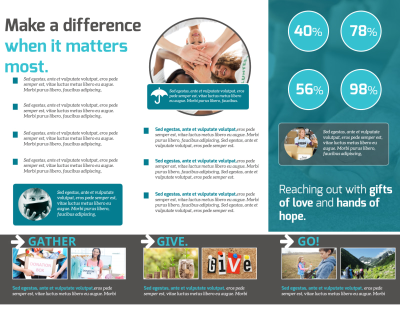 Charity Encouragement Tri-Fold Brochure Template Preview 3