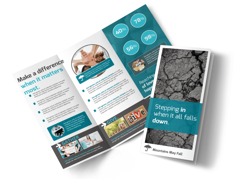 Charity Encouragement Tri-Fold Brochure Template Preview 1