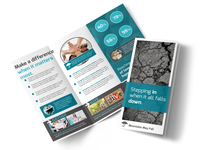 Charity Encouragement Tri-Fold Brochure Template Preview 4