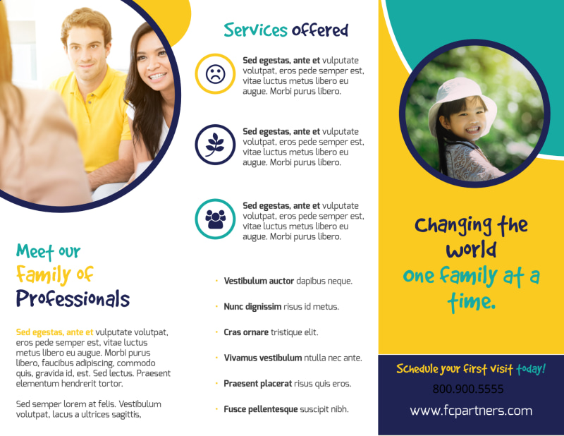 Counseling Family Tri-Fold Brochure Template Preview 3