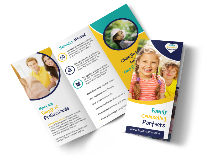 Counseling Family Tri-Fold Brochure Template Preview 1