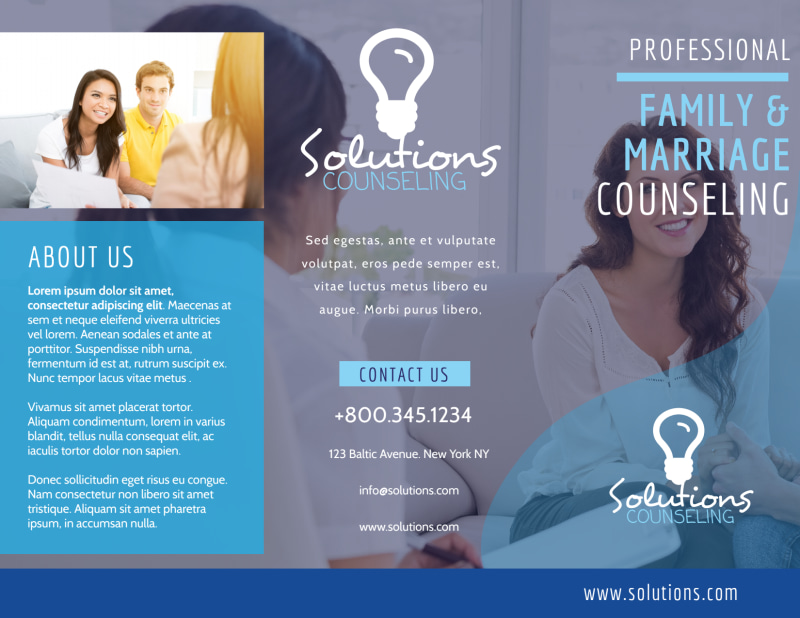 Professional Counseling Tri-Fold Brochure Template Preview 2