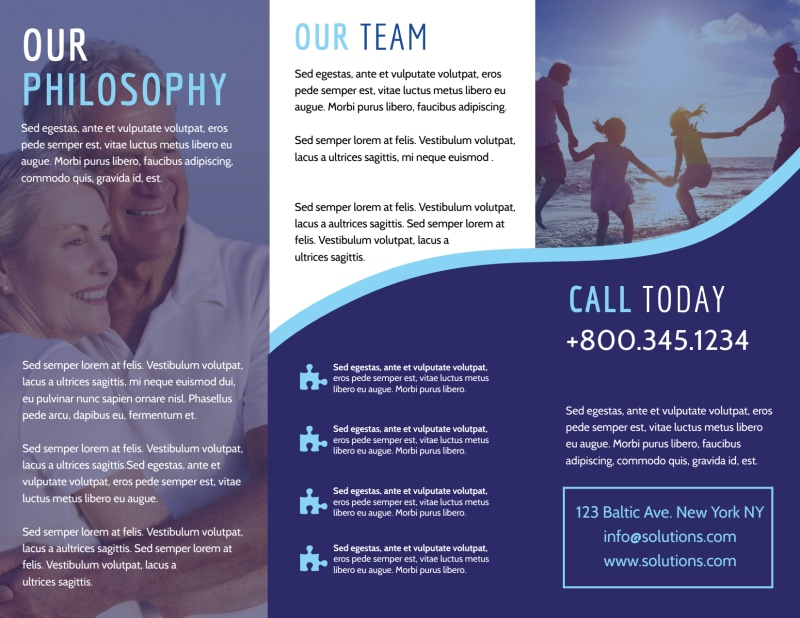 Professional Counseling Tri-Fold Brochure Template Preview 3