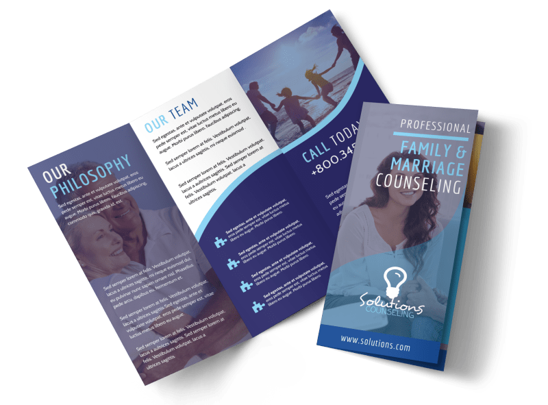 Professional Counseling Tri-Fold Brochure Template Preview 1
