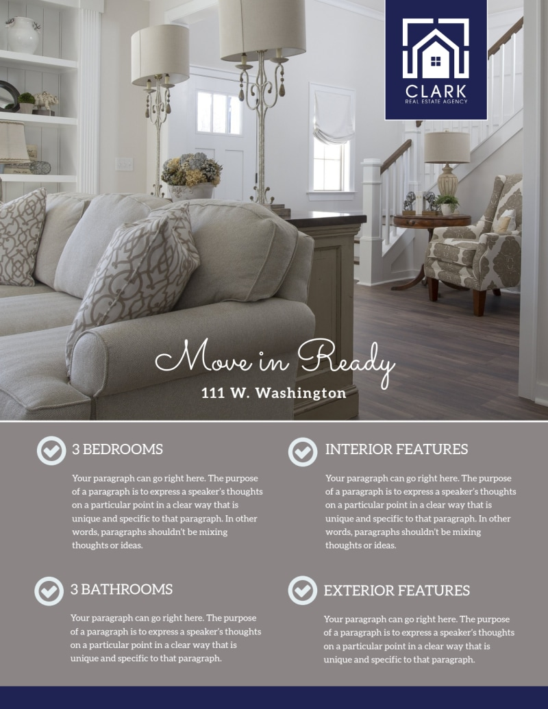 Elegant Open House Flyer Template Preview 2