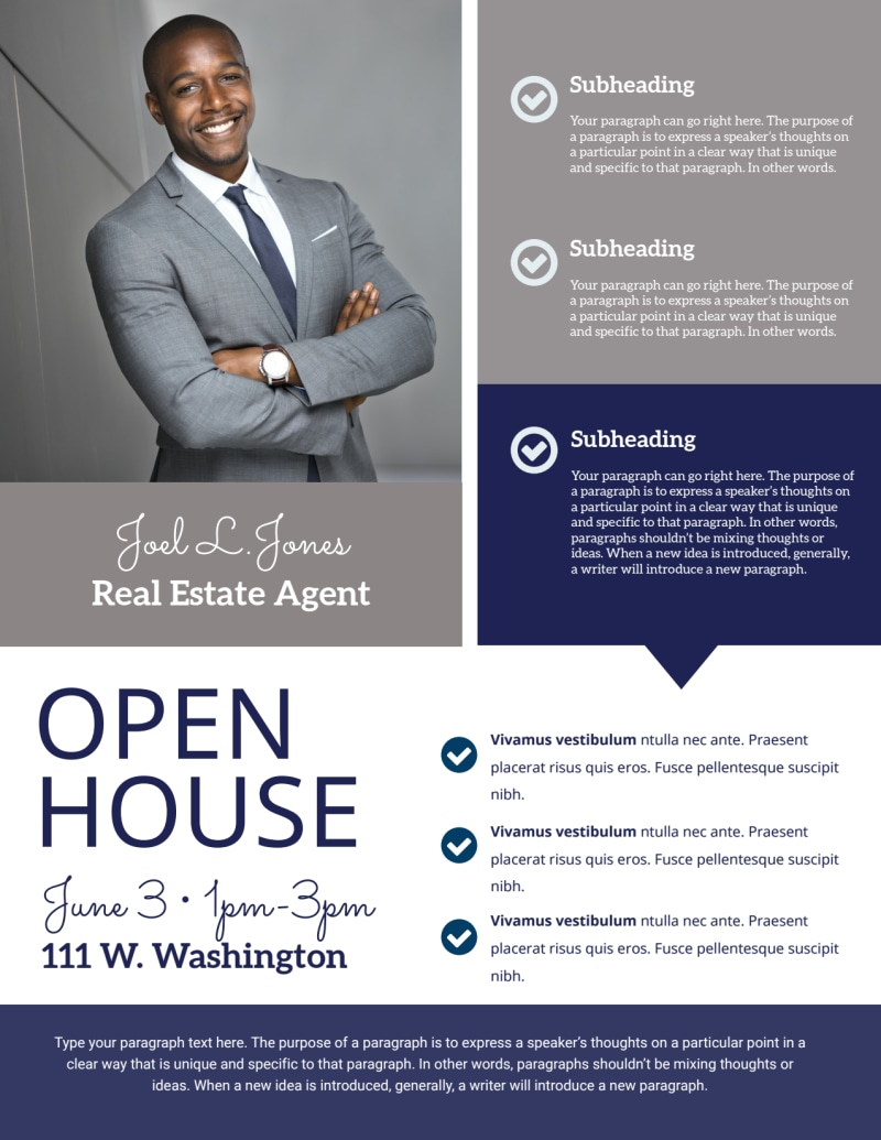 Elegant Open House Flyer Template Preview 3
