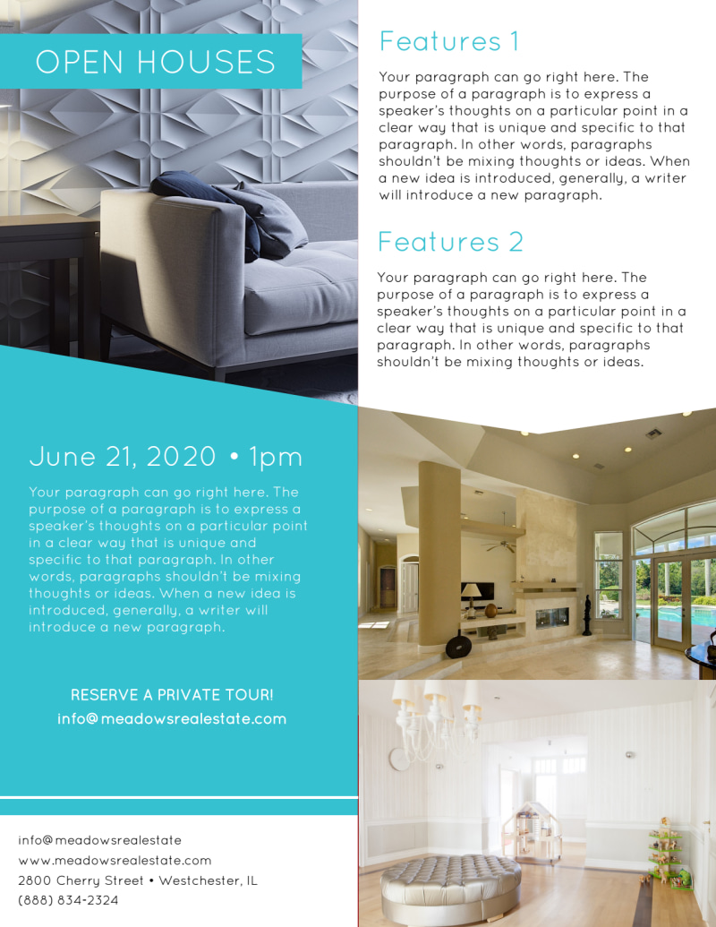 Your Own Open House Flyer Template Preview 3