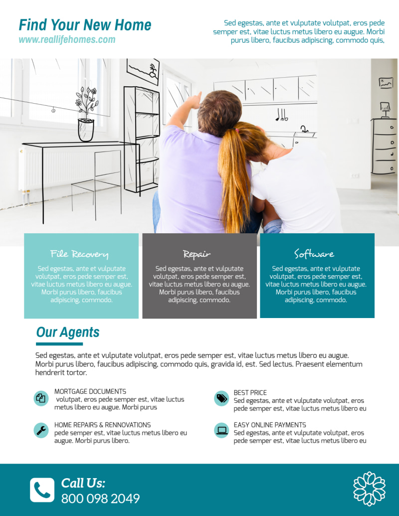 Real Estate Info Flyer Template Preview 3