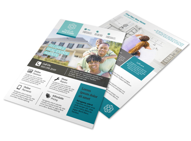 Real Estate Info Flyer Template Preview 4