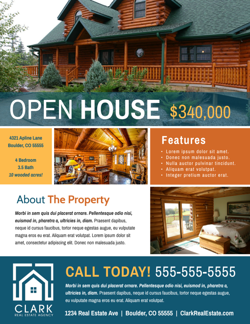 Awesome Open House Flyer Template Preview 2
