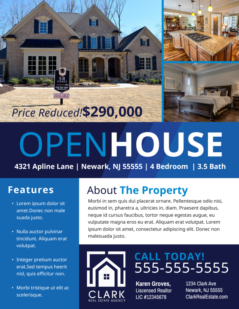 Modern Open House Flyer Template Preview 2