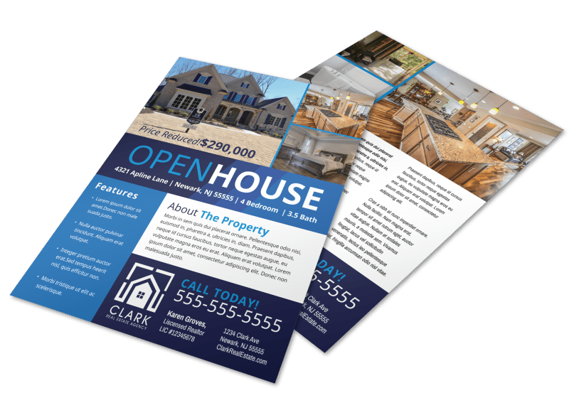 Modern Open House Flyer Template Preview 1