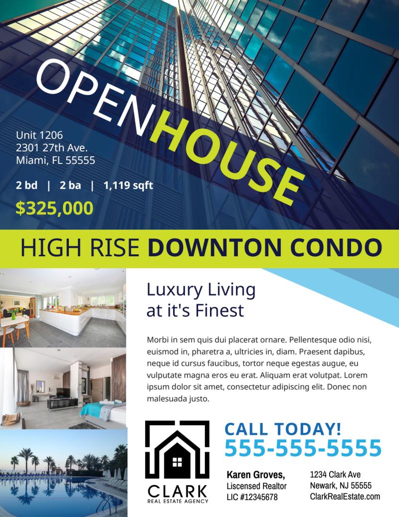 Open House Condo Flyer Template Preview 2
