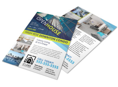 Open House Condo Flyer Template preview