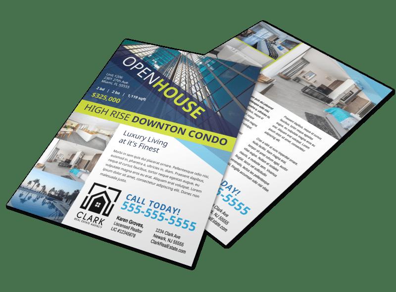 Open House Condo Flyer Template Preview 1