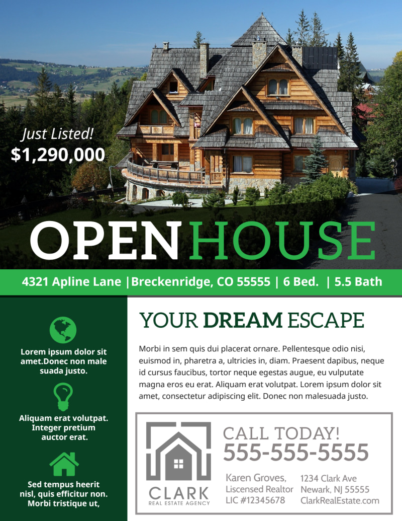 Luxury Open House Flyer Template Preview 2