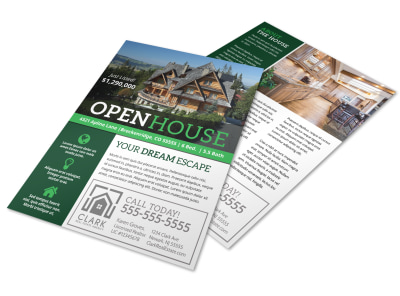 Luxury Open House Flyer Template preview