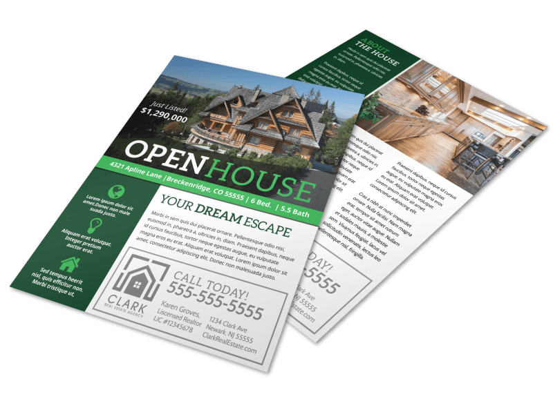 Luxury Open House Flyer Template Preview 1