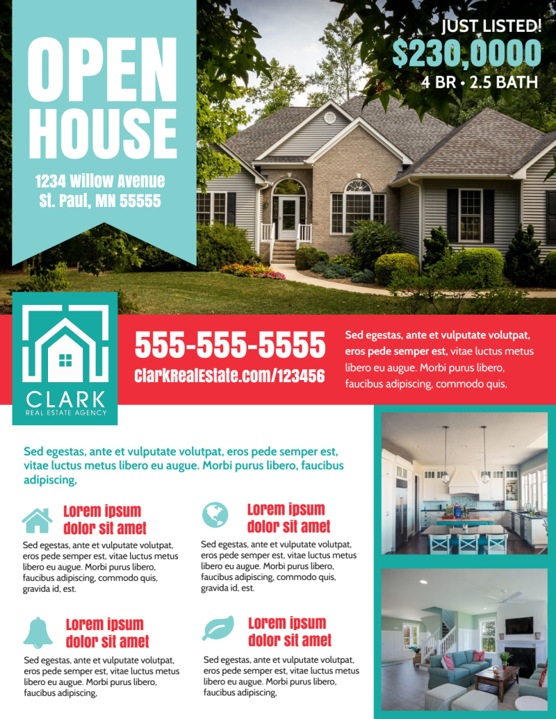 Open House Info Flyer Template Preview 2
